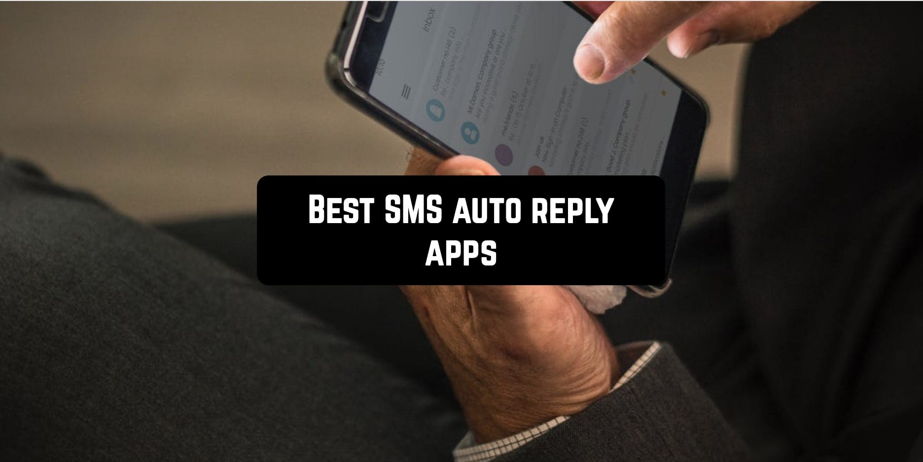 Best SMS auto reply apps