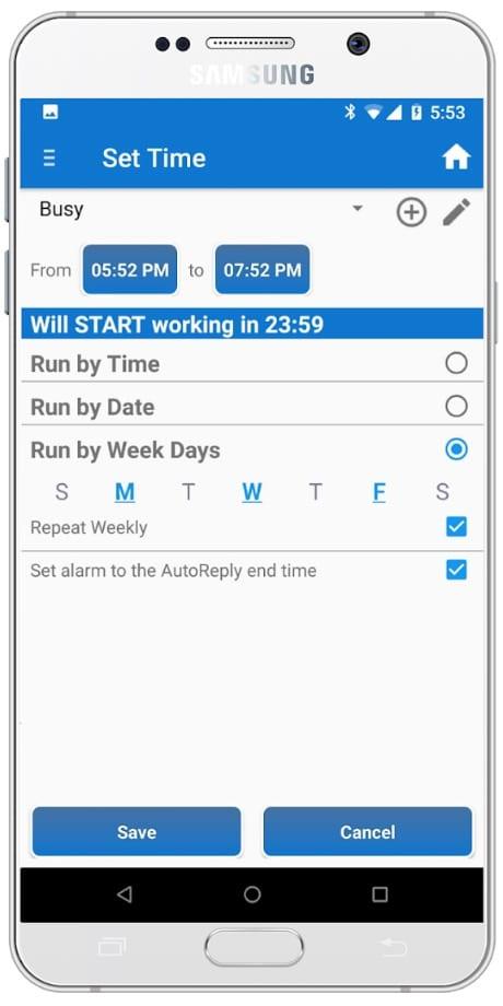 SMS Auto Reply app