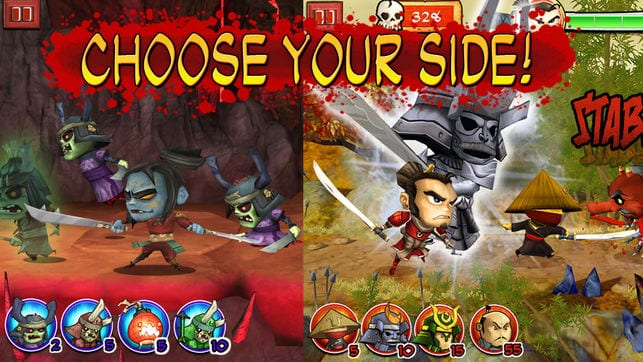 Samurai vs Zombies app