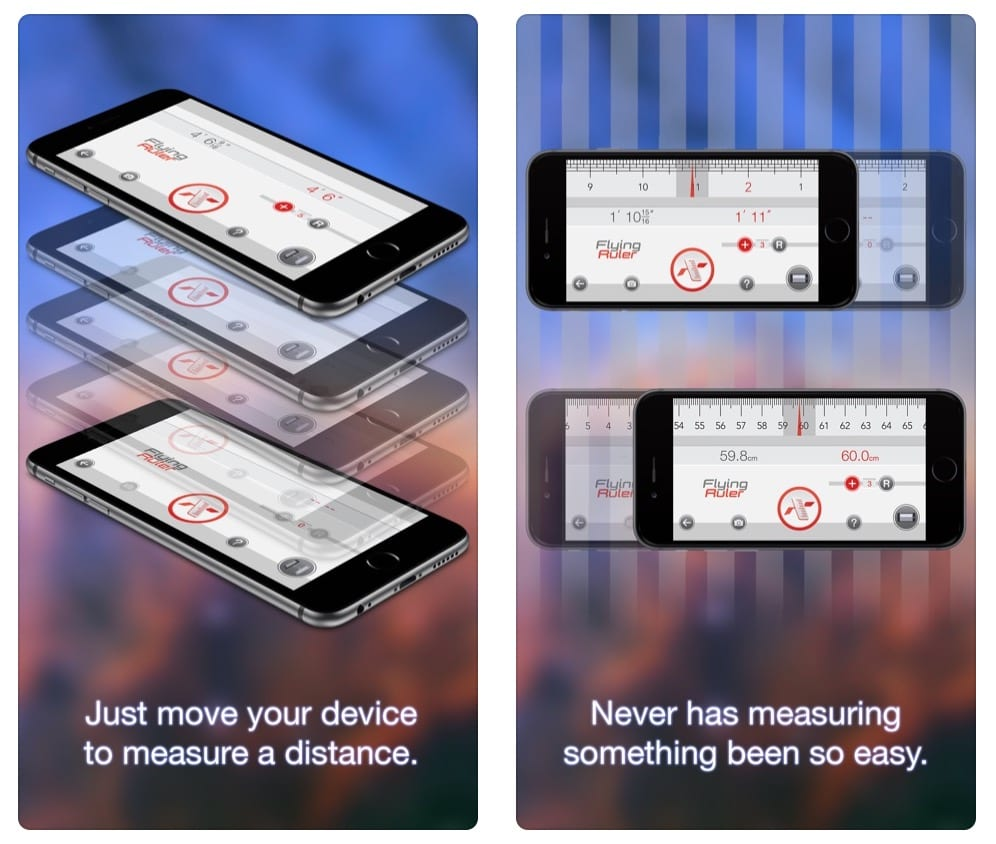Move to measure - Flying Ruler