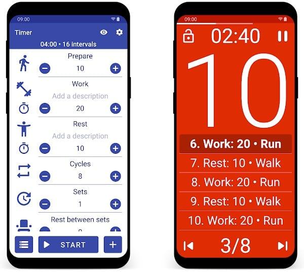 Tabata Timer app