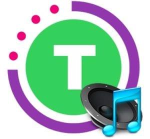 Tabata timer with music logo