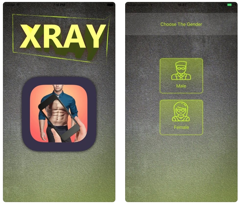 X-Ray Body Scanner Simulator