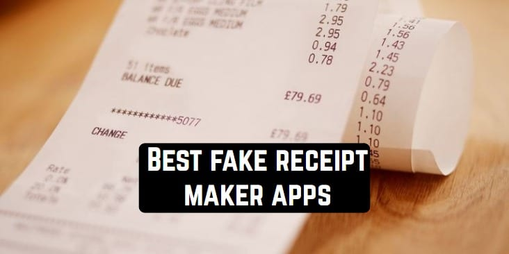 Best fake receipt maker apps