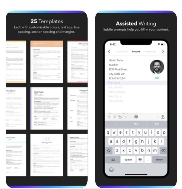 resume builder app review - app pearl
