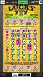 Lucky Lottery Scratchers