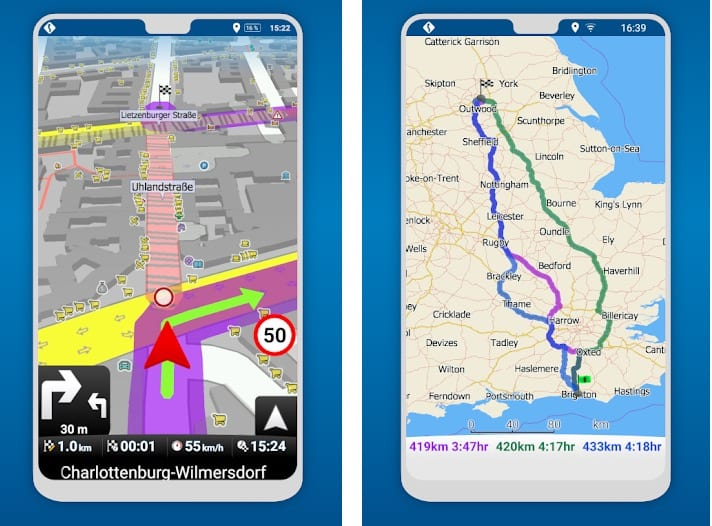 MapFactor GPS Navigation Maps app
