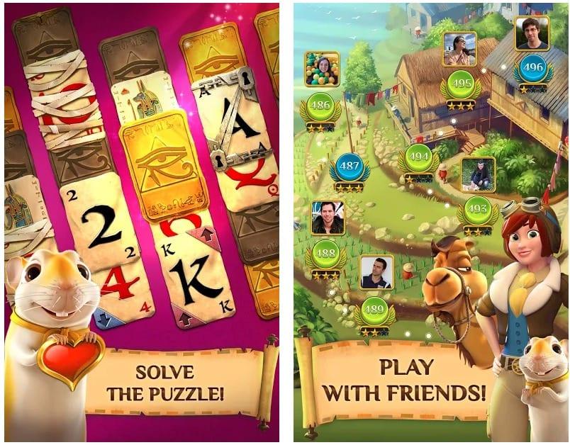 Pyramid Solitaire Saga app