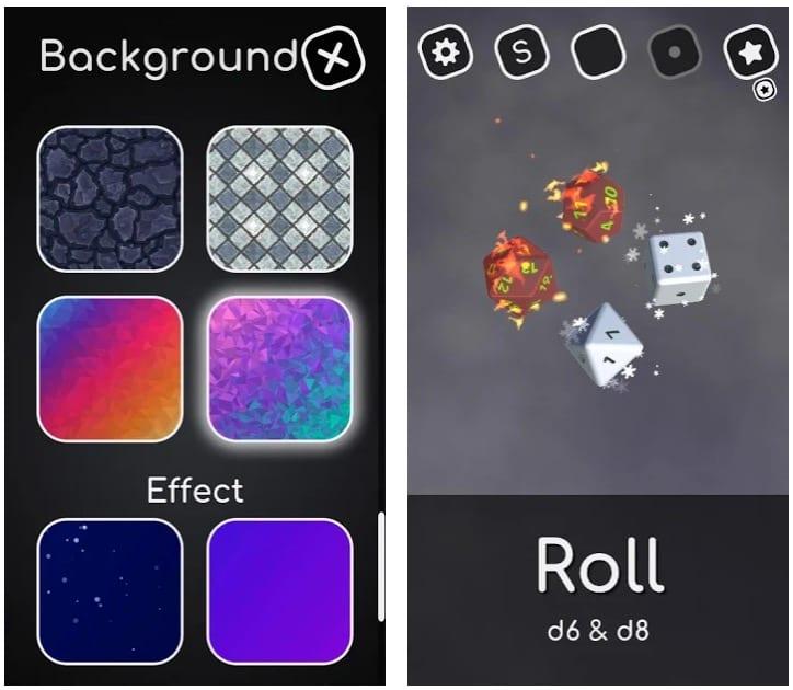 Random Dice 3D app