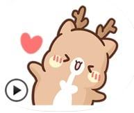 Animated Cute Reindeer Sticker