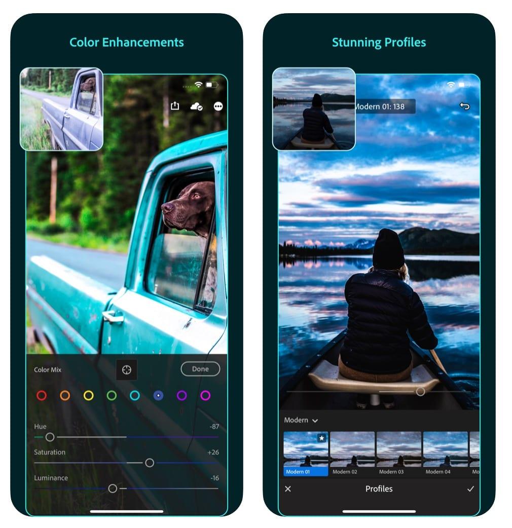Adobe Lightroom Photo Editor app