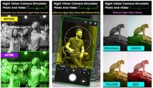 Night Vision Camera Simulator: Photo and Video