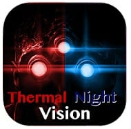Thermal Night Vision Camera Effect Simulated