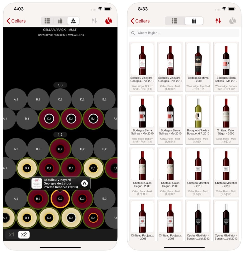 VinoCell - wine cellar manager app
