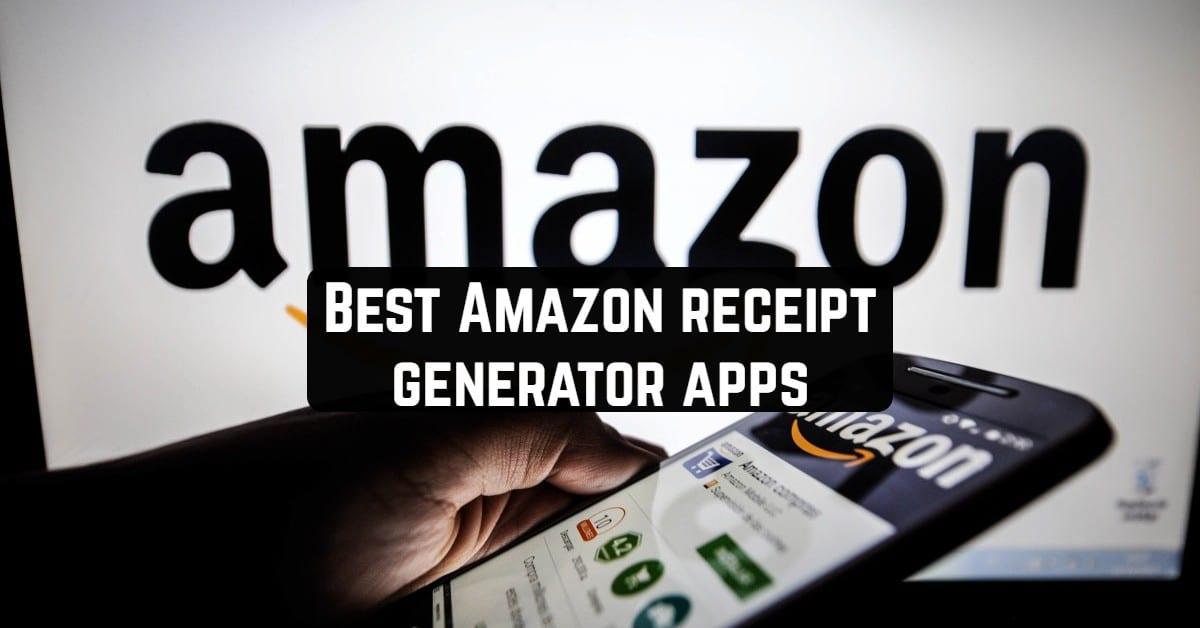 Best Amazon receipt generator apps