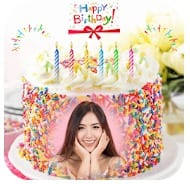Name Picture on Birthday Cake