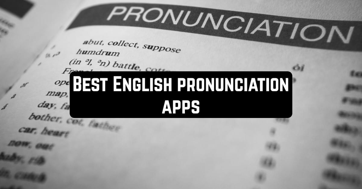 Best English Pronunciation Apps