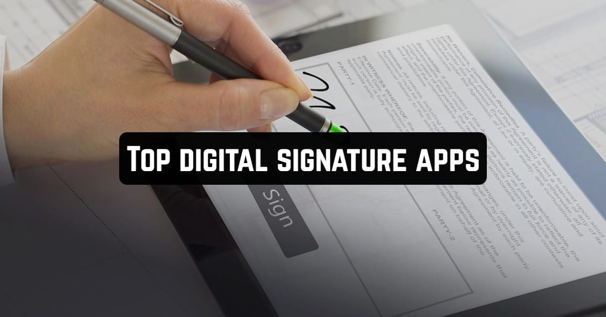 Top Digital Signature Apps