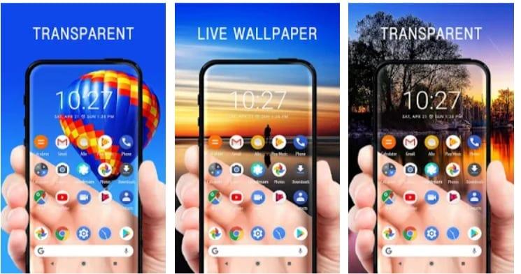 Transparent Screen & Live Wallpaper