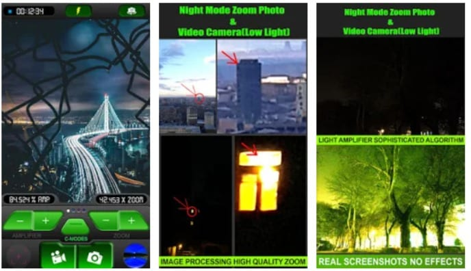 Night Mode Zoom Photo and Video Camera